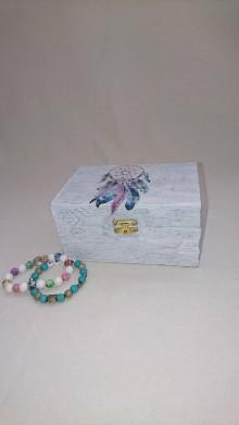 Krabičky - drevená krabička-lapač snov - 10138106_