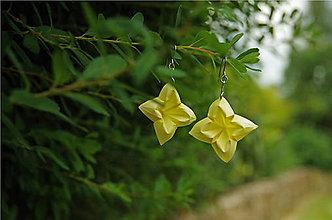 Náušnice - Jemně žluté květy - 10138348_