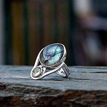 Prstene - Prsten zo striebra - Dáma v modrom - 10142064_
