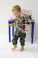 Detské oblečenie - Rastúci overal - merino vlna - 93-104cm (2-4roky) - 10137252_