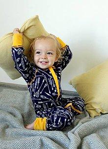 Detské oblečenie - Rastúci overal - merino vlna - 0 - 6 mesiacov (50 - 68 cm) - 10137224_