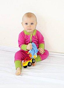 Detské oblečenie - Rastúci overal - merino vlna - 63-80cm (4-12m) - 10137233_
