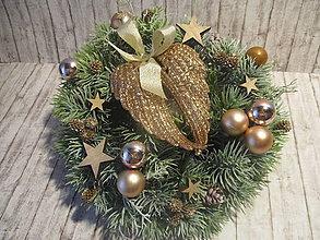 Dekorácie - Vianočný venček - 10137392_