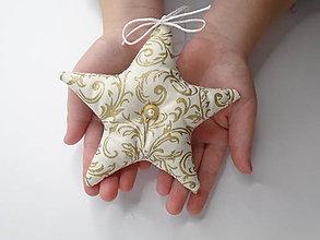 Dekorácie - Vianočné hviezdičky - 10137343_