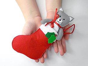 Hračky - Drobnosti v čižmičke (Mačička) - 10137450_
