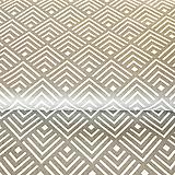 Textil - sivé geometrické dlaždice, 100 % bavlna, šírka 140 cm - 10139605_