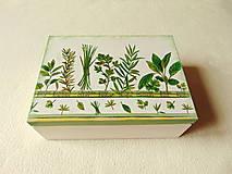 Krabičky - Čajová krabička Bylinky - 10138359_