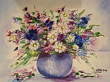 Obrazy - Lúčne kvety-abstrakcia - 10141754_