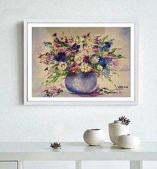 Obrazy - Lúčne kvety-abstrakcia - 10141763_