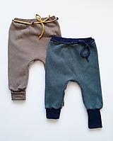 Detské oblečenie - Organické Flisové nohavice s manžetami - 10138794_