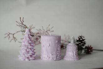 Svietidlá a sviečky - Sada vianočných sviec  (Svetlo fialová) - 10137784_