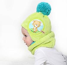 Detské čiapky - Originálny setík pre babätká - 10137090_