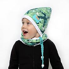 Detské čiapky - Setík s lietadlami - 10139836_