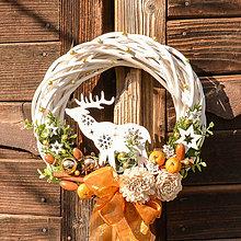 Dekorácie - Venček na dvere s jelenčekom - 10138556_