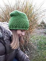 Čiapky - Háčkovaná čiapka, homeleska, pre ženu - 10138975_