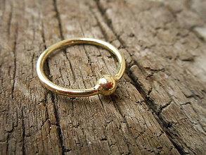 Prstene - Prsteň guľôčka - 10137848_