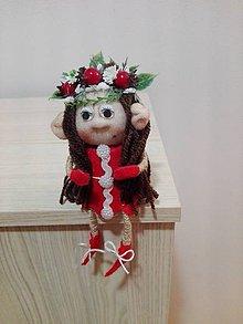 Dekorácie - Vianočná trolka Eva. - 10141725_