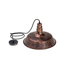 Svietidlá a sviečky - Historické visiace svietidlo v staro medenej úprave - 10140769_