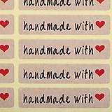 NA104 Nálepka Handmade with love 4,5 cm (10 ks)
