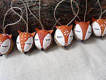 Dekorácie - Oriešky - zvieratká z lesa (Líščie oriešky) - 10139493_