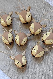 Dekorácie - Oriešky - zvieratká z lesa (Srnčie oriešky) - 10139506_