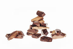 Hračky - Pišlické balančné kamene tmavé - 10142673_