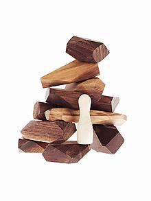 Hračky - Pišlické balančné kamene tmavé - 10142675_