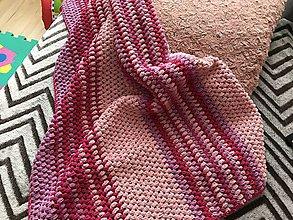 Textil - Deka do kočíka Gold - Bublinka, ružová - 10137709_