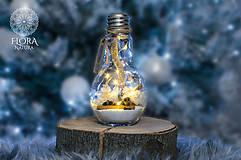"""Svietidlá a sviečky - Žiarovka """"Zimná rozprávka"""" - 10138498_"""