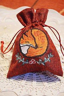 Nezaradené - Vianočné vrecko s obrázkom (Vrecko s líškou) - 10142415_
