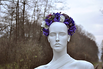 Ozdoby do vlasov - Kvetinová čelenka Deep Purple - 10137175_