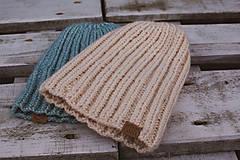Čiapky - Pletená čiapka - 10138926_