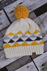 Čiapky - Pletená čiapka - 10138961_
