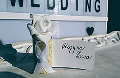 Darčeky pre svadobčanov - Držiak na svadobné menovky - 10141616_