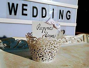 Darčeky pre svadobčanov - Držiak na svadobné menovky - 10141582_