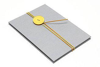 Knihy - Leporelo Grey 10 x 15 - 10138743_
