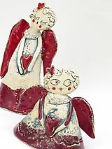 Dekorácie - Anjel  malý  červený - 10139093_