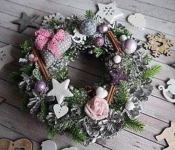 Dekorácie - Vianočný veniec - 10140446_