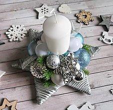 Dekorácie - Vianočný svietnik - 10140567_
