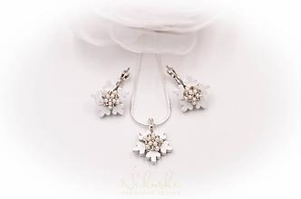 Sady šperkov - Sada s vločkami - 10140955_