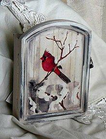 Krabičky - vtáčiky v zime - 10138383_