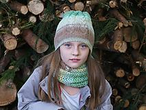 Čiapky - Zľava z 24,90 - Melírovaný dámsky set v prírodných farbách - 10138068_