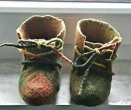 Topánočky - Detské čižmičky vlnené plstené - 10139635_