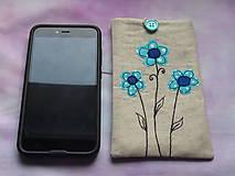 Na mobil - Obal  na mobil kvietky - 10138943_