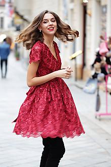 Šaty - Šaty vianočná kráska - 10147931_