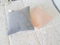 Textil - Flisovy vankusik  25x25cm,zadna strana bavlna podla vyberu - 10144024_