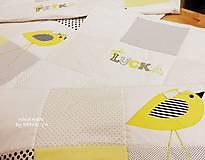 Úžitkový textil - Prehoz 120x205 kolekcia VTÁČIĶ - 10147532_
