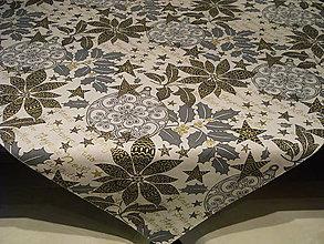 Úžitkový textil - Vianočný obrus na režnom podklade - 10145713_