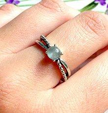 Prstene - Delicate Aquamarine Ring / Jemný vintage prsteň s akvamarínom /1177 - 10145018_