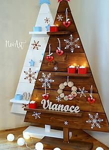 Dekorácie - Drevený vianočný stromček 4 - 10147246_